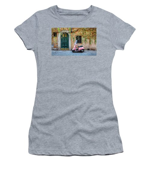 The Pink Vespa Women's T-Shirt (Athletic Fit)