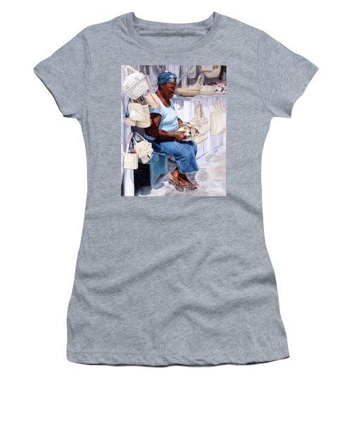 The Plait Lady Women's T-Shirt (Athletic Fit)