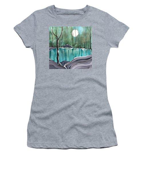 The Pond Women's T-Shirt (Junior Cut) by Pat Purdy