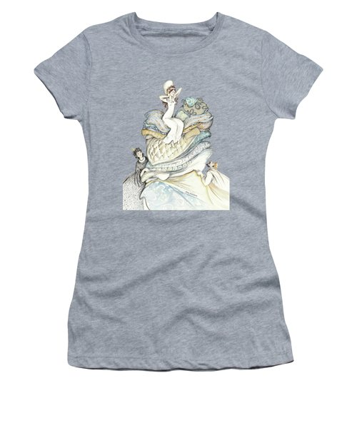 The Princess And The Pea, Illustration For Classic Fairy Tale Women's T-Shirt