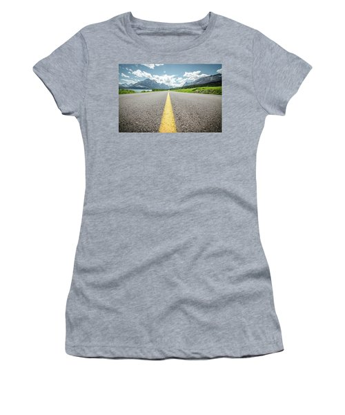 The Road To Glacier Women's T-Shirt (Athletic Fit)