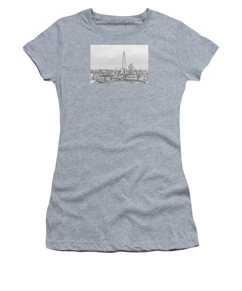 The Shard Outline Poster Bw Women's T-Shirt