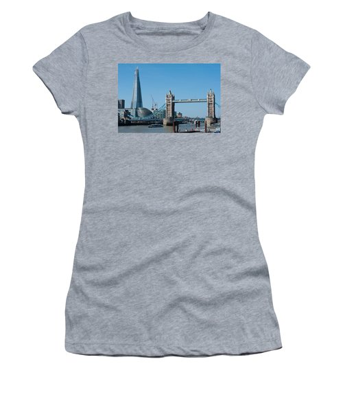 The Shard With Tower Bridge Women's T-Shirt (Athletic Fit)