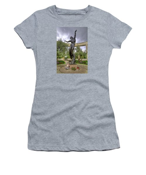 The Spirit Of American Youth Rising Women's T-Shirt (Junior Cut) by Tim Stanley