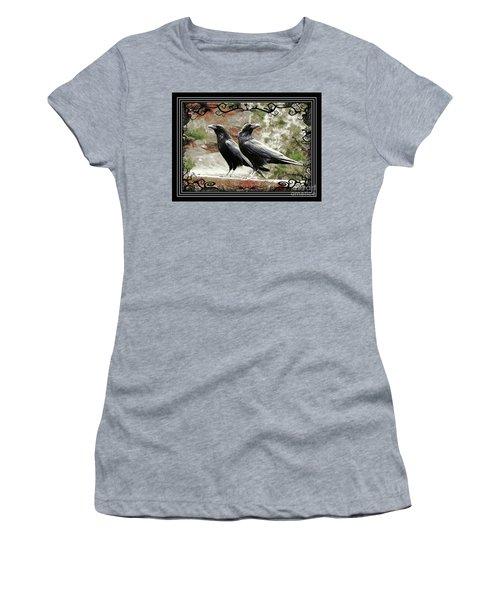 The Spooky Ravens Women's T-Shirt (Athletic Fit)
