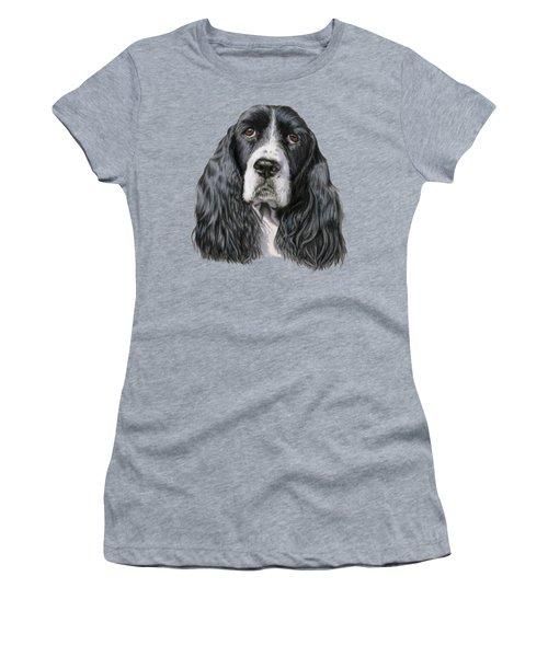 The Springer Spaniel Women's T-Shirt (Junior Cut) by Sarah Batalka