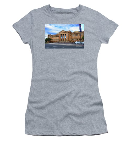 Women's T-Shirt (Athletic Fit) featuring the photograph The State Library Of New South Wales By Kaye Menner by Kaye Menner