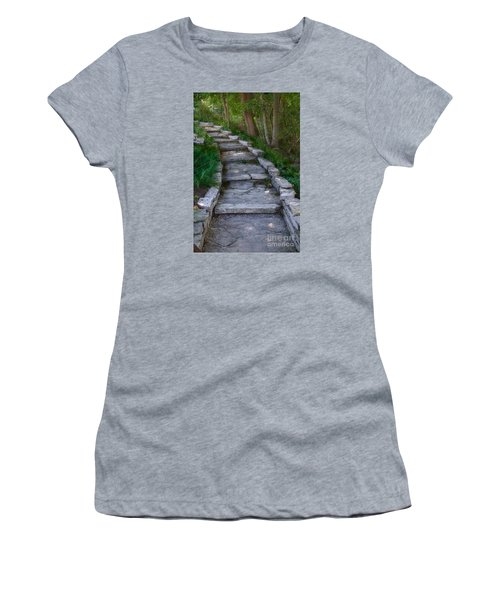 The Steps Women's T-Shirt (Junior Cut) by David Blank