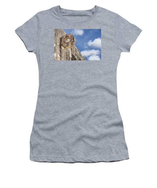 The Stone Ring At The Great Mayan Ball Court Of Chichen Itza Women's T-Shirt