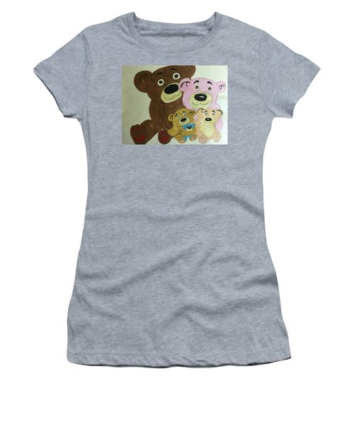 The Teddy Family  Women's T-Shirt (Athletic Fit)