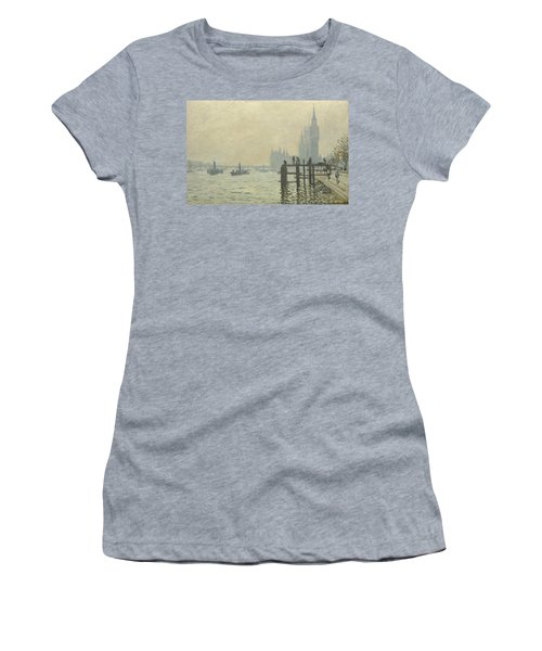 The Thames At Westminster Women's T-Shirt