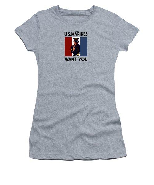 The U.s. Marines Want You  Women's T-Shirt