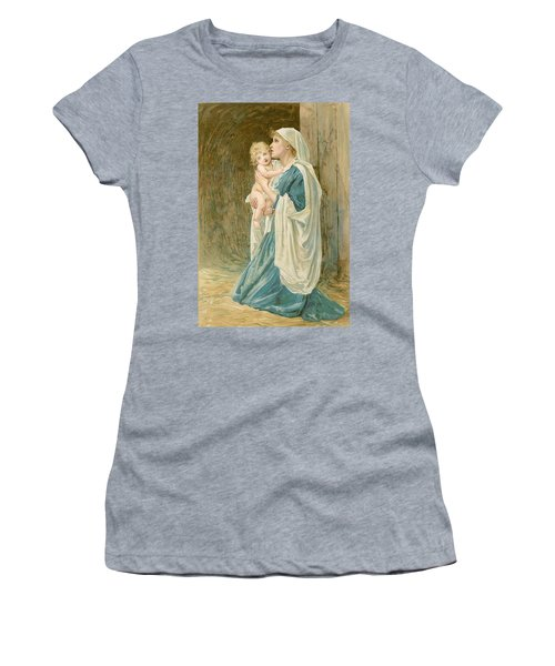 The Virgin Mary With Jesus Women's T-Shirt