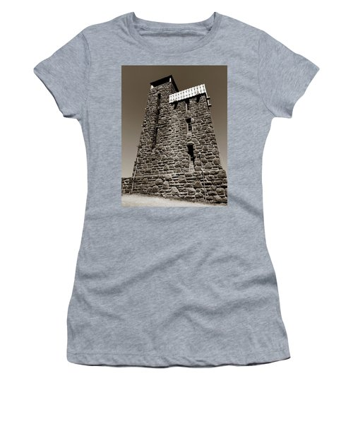 Women's T-Shirt featuring the photograph The Water Tower At Mount Constitution by Lorraine Devon Wilke