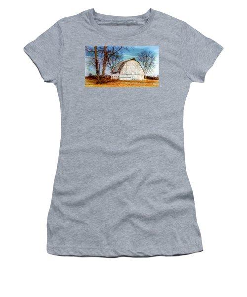 The White Barn Women's T-Shirt (Junior Cut) by Karen McKenzie McAdoo