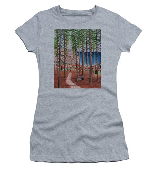 Women's T-Shirt (Junior Cut) featuring the painting The Wood Collectors by Hilda and Jose Garrancho