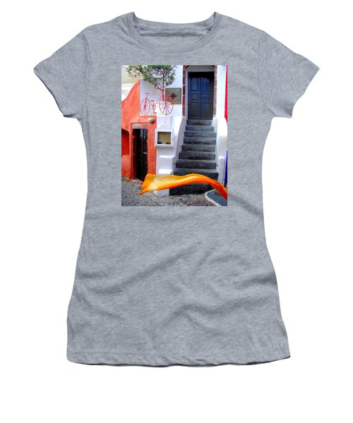 Women's T-Shirt (Junior Cut) featuring the photograph The Yellow Scarf by Ana Maria Edulescu