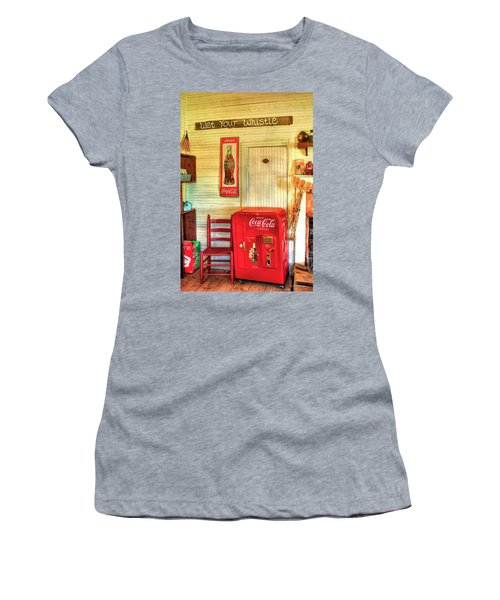 Thirst-quencher Old Coke Machine Women's T-Shirt (Junior Cut) by Reid Callaway