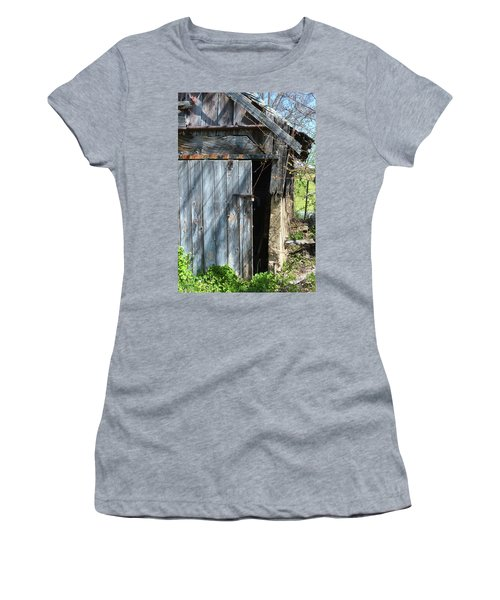 This Old Barn Door Women's T-Shirt (Junior Cut) by Kathy Kelly