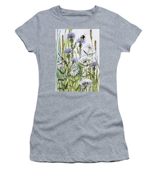 Thistles Daisies And Wildflowers Women's T-Shirt