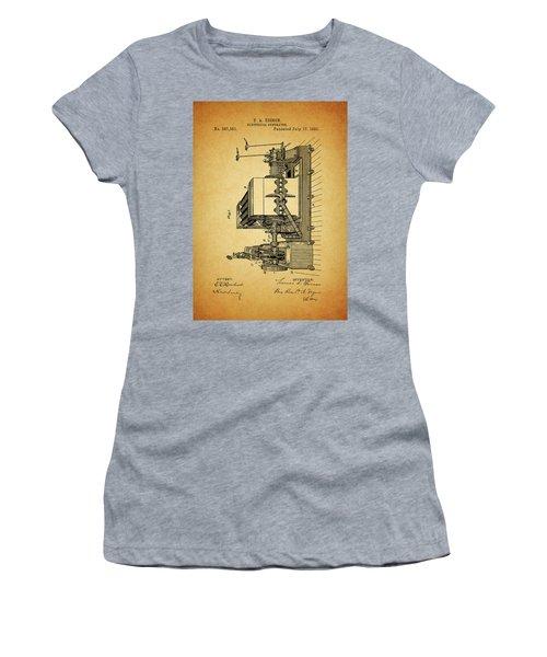 Thomas Edison Generator Patent Women's T-Shirt (Junior Cut) by Dan Sproul