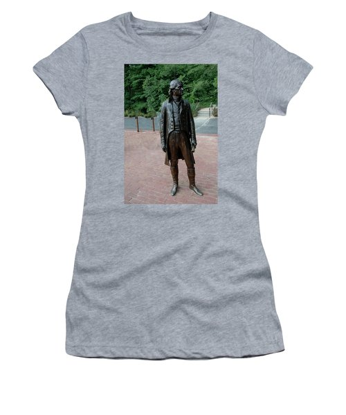 Thomas Jefferson At Monticello Women's T-Shirt (Athletic Fit)