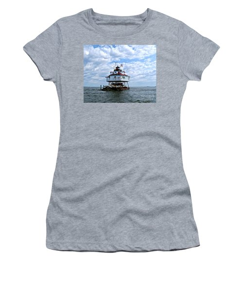 Thomas Point Lighthouse Women's T-Shirt (Athletic Fit)