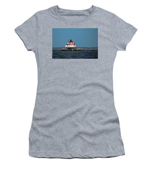 Thomas Point Shoal Light Women's T-Shirt (Athletic Fit)