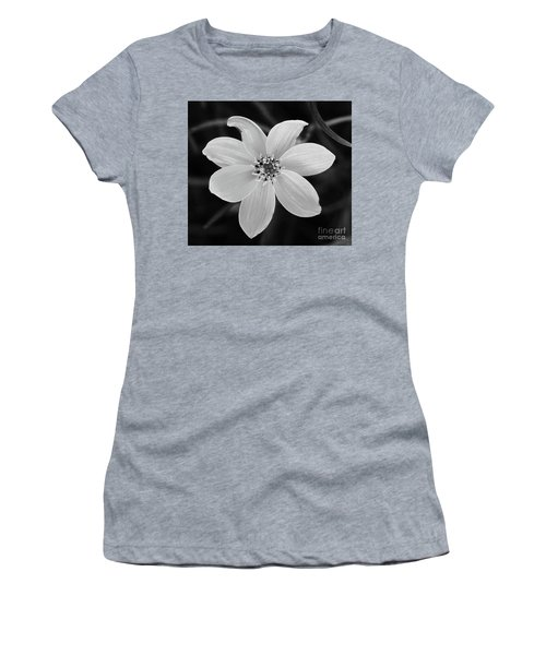 Threadleaf In Black And White Women's T-Shirt (Athletic Fit)
