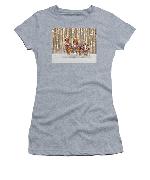 Three Horses Running Women's T-Shirt