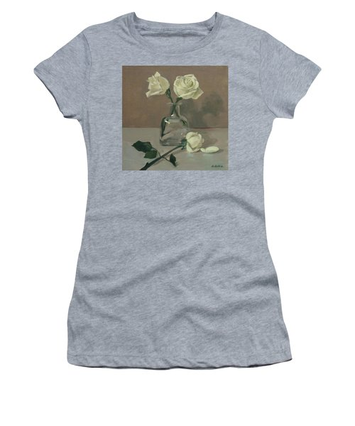 Three Roses In A Tequila Bottle Women's T-Shirt (Athletic Fit)