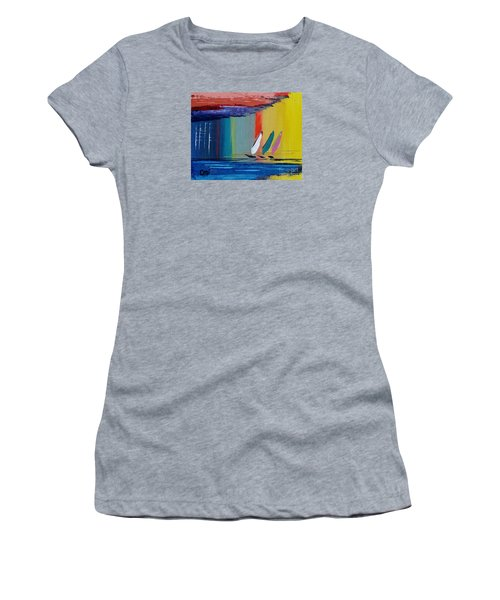 Three Sails Women's T-Shirt (Athletic Fit)