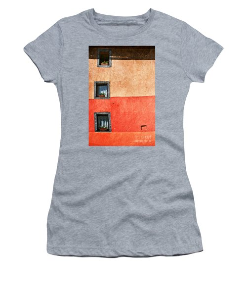 Three Vertical Windows Women's T-Shirt (Athletic Fit)
