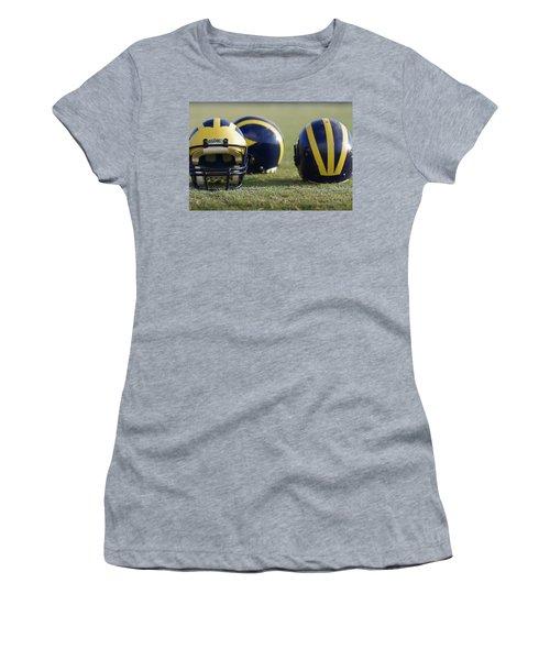 Three Wolverine Helmets Women's T-Shirt (Athletic Fit)