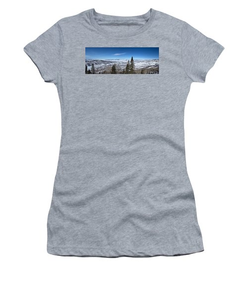 Through The Pines Women's T-Shirt (Junior Cut) by Sean Allen