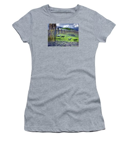 Through The Standing Stones Women's T-Shirt (Athletic Fit)