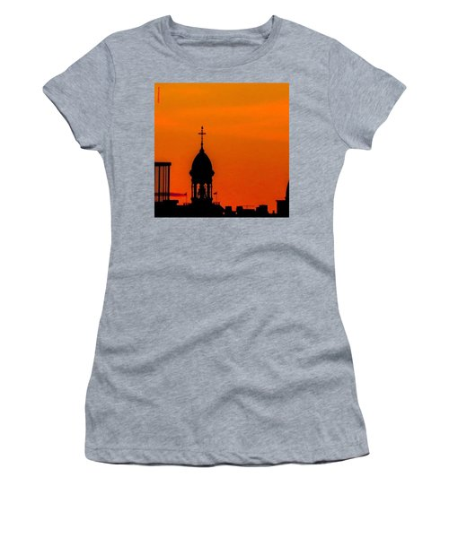 #throwbackthursday #fire In The #sky Women's T-Shirt (Athletic Fit)