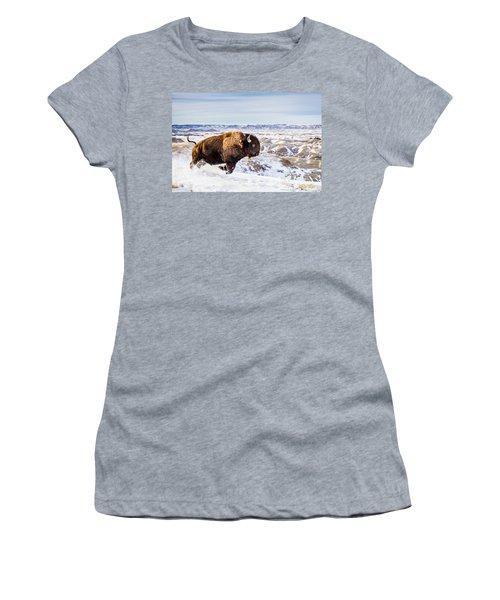 Thunder In The Snow Women's T-Shirt (Junior Cut) by Rikk Flohr