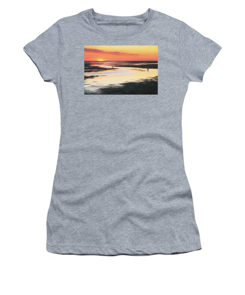 Tidal Flats At Sunset Women's T-Shirt (Athletic Fit)