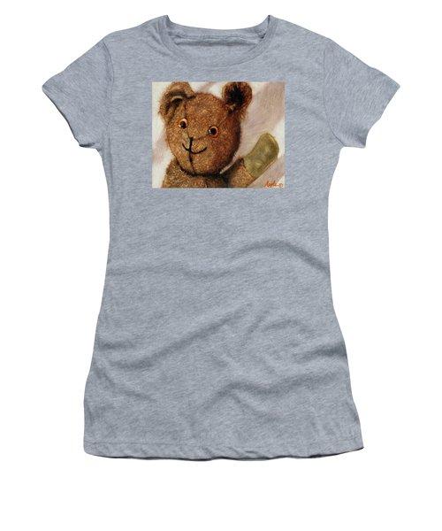 Tillie - Vintage Bear Painting Women's T-Shirt (Junior Cut) by Linda Apple