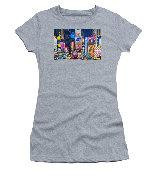 Times Square Women's T-Shirt (Athletic Fit)