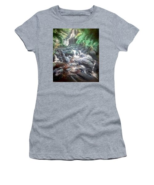 Torc Waterfall County Kerry Ireland Women's T-Shirt (Athletic Fit)