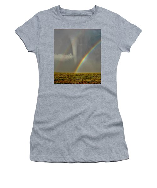Tornado And The Rainbow II  Women's T-Shirt (Athletic Fit)