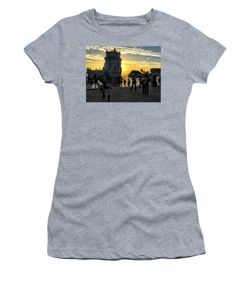 Tower Of Belem Women's T-Shirt (Athletic Fit)