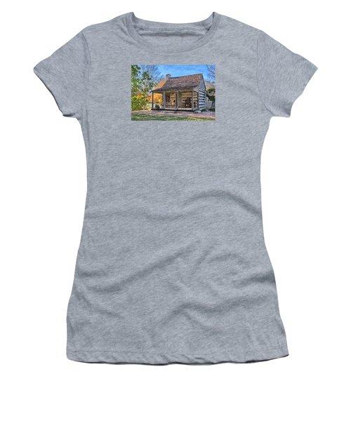Town Creek Log Cabin In Fall Women's T-Shirt