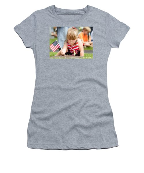 Tracing Letters Women's T-Shirt (Athletic Fit)