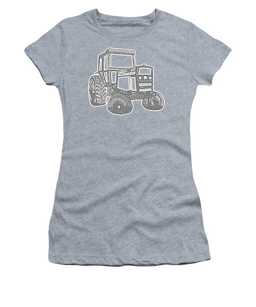 Tractor Transparent Women's T-Shirt (Athletic Fit)