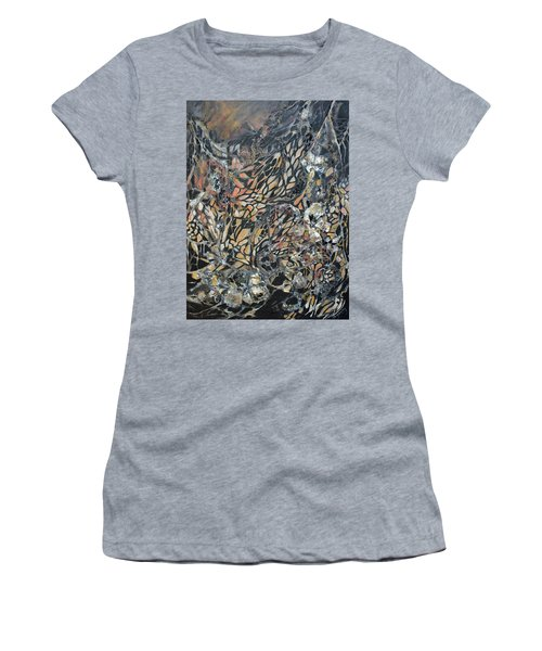 Women's T-Shirt (Junior Cut) featuring the mixed media Transformation by Joanne Smoley