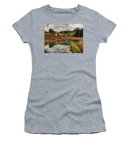 Women's T-Shirt (Athletic Fit) featuring the photograph Transition by OLena Art Brand
