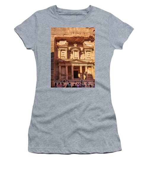 Women's T-Shirt featuring the photograph Treasury Of Petra In Color by Mae Wertz